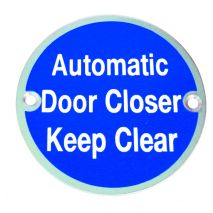 Automatic Door Closer Keep Clear